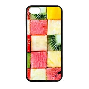 Hoomin Tasty Color Fruit Pattern iPhone 5 5s Cell Phone Cases Cover Popular Gifts(Laster Technology)