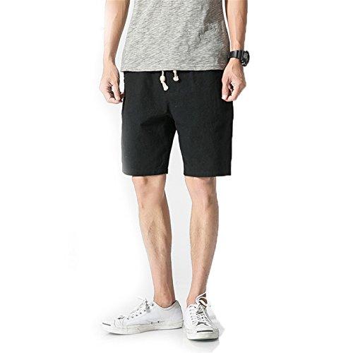 (White Cotton Linen Shorts Men Summer Shorts Male Casual Board Short Pants Man Big Size Harajuku New)