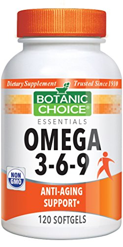 Botanic Choice Omega 3-6-9 1,000 mg, 120 Soft gels For Sale