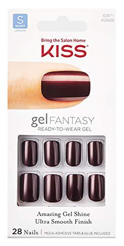 Kiss Nails GEL FANTASY KGN09 (AB FAB) Short Design Nails w/Adhesive Tabs & Glue