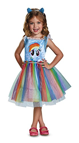 Rainbow Dash Costume Toddler (Rainbow Dash Movie Toddler Classic Costume, Blue, Medium (3T-4T))