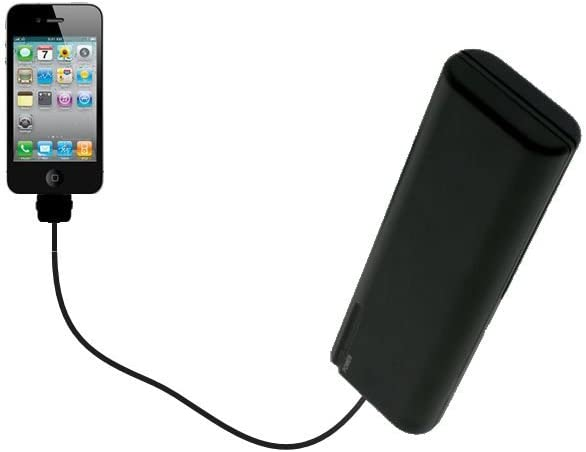 Gomadic Portable AA Battery Pack Designed for The Apple iPhone - Powered by 4 X AA Batteries to Provide Emergency Charge. Built Using TipExchange Technology