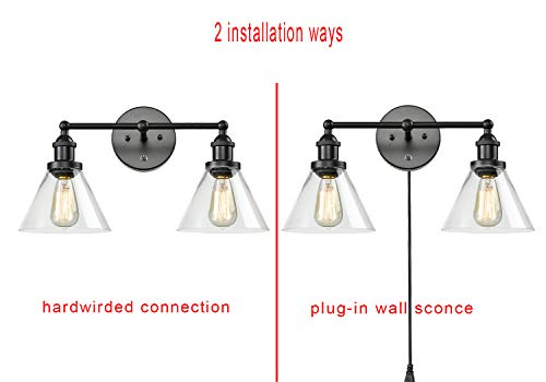 CLAXY Ecopower Lighting Mordern Glass & Metal 3-Lights Wall Sconce by CLAXY (Image #4)