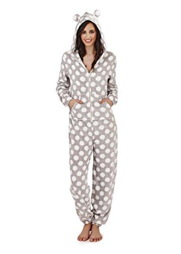Uno Tempo Abbigliamento Nuovo Pigiama In Onesie Grey Tutto Spot Donna Libero Boutique w8TW17qXX