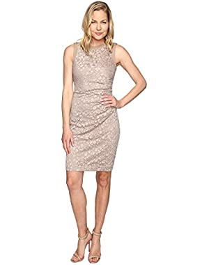 Calvin Klein Womens Side Ruched Lace Sheath Dress CD6L1Q6Q