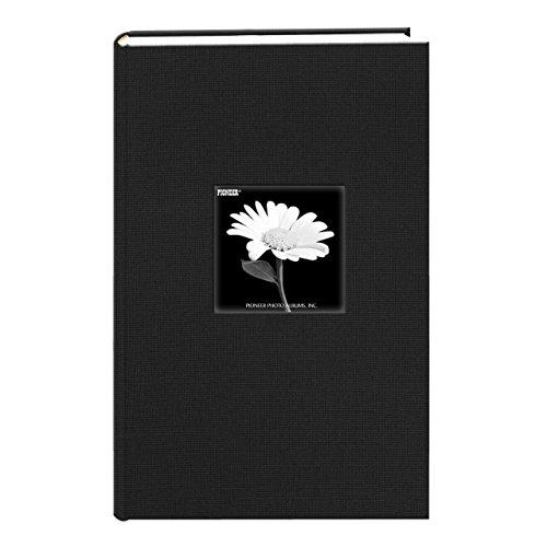 Fabric Frame Cover Photo Album 300 Pockets Hold 4x6 Photos, Deep Black (Photo Cover)