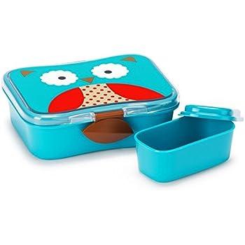 Skip Hop Baby Zoo Little Kid and Toddler Mealtime Lunch Kit Feeding Set, Multi, Otis Owl