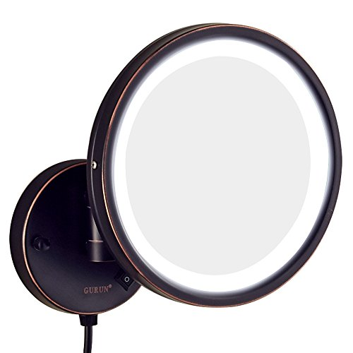 Gurun 8 5 Inch Adjustable Led Lighted Wall Mount Makeup