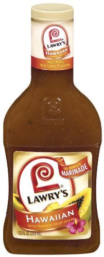 Lawry's Hawaiian with Tropical Fruit Juices Marinade, 12 oz (3 Pack)
