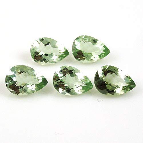 0.91 Ct Oval Green Prasiolite 925 Sterling Silver Ring