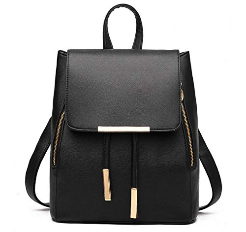 WINK KANGAROO Fashion Shoulder Bag Rucksack PU Leather Women Girls Ladies Backpack Travel bag ()
