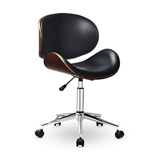 C-CHAIN Adjustable Modern Mid-Century Office Chair with Curved Seat/Back, Swivel Executive Chair, Rolling Computer Chair…