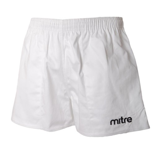mitre Mens Cotton Drill Rugby Shorts - White - 26