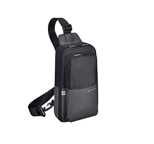 (Zero Halliburton Gramercy-Sling Bag Backpack, Black, One Size)