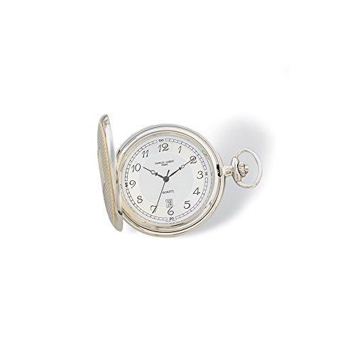 Charles-Hubert, Paris 3554 Two-Tone Quartz Pocket Watch