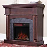 ChimneyFree Wexford Wall or Corner Infrared Electric Fireplace in Brown Cherry - 18DM9038-PM92