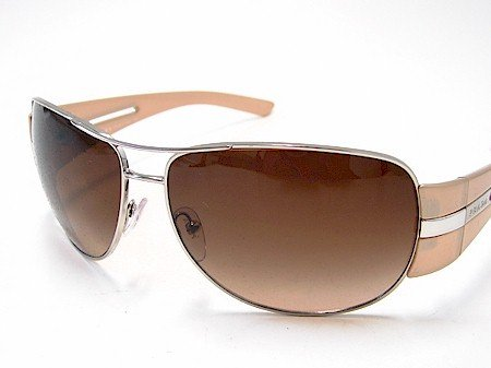 b0e563780990c New Prada Spr 69H Spr69H 1Bc-6S1 Beige Silver Light Brown Sunglasses  Gradient Brown Lens Size  64-14-125  Amazon.co.uk  Clothing