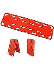 Folding Emergency Stretcher, Plastic Life Board, 2 Fold / 4 Fold First Responder Backboard Spine Board Stretcher Immobilization (Size : 2 fold)
