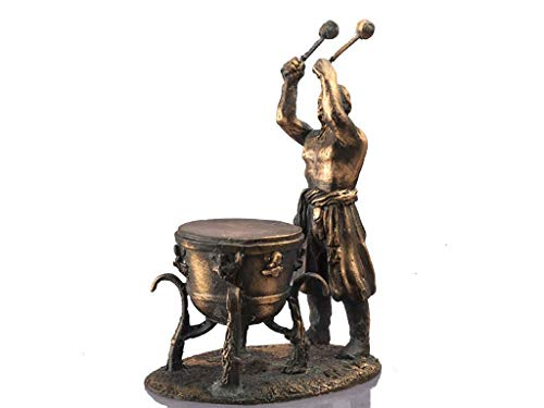 Cossack with timpani Dovbush. Copper figur Model miniature figure 54mm metal sculpture Scale 1:32. husband gift. gifts for men