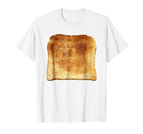 Mens Bread & Toast T-Shirt Halloween Costume Ideas XL White -