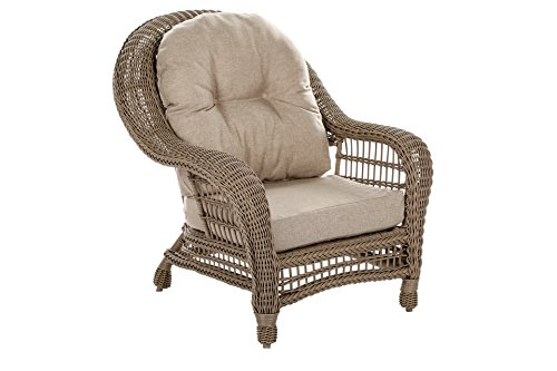 W Unlimited Saturn Collection Garden Patio Furniture Cappuccino Wicker Outdoor Furniture Bistro Set Beige Cushion Lounger Deep Seating (3 Piece Set) - Traditional hand woven wicker strapping with full size round core all-weather resin rattan. Proven to withstand over 4000 hours in direct UV light without fading or warping. Lightweight aluminum frame provides unmatched protection and impact resistance. Small and decorative. Simplistic yet chic. Perfect for a time of great conversation! Great pieces for a nice evening outside with friends and family! - patio-furniture, patio, conversation-sets - 4106pHpZH%2BL -