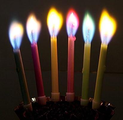 Vela de cumpleaños multicolor (6 colores): Amazon.es ...