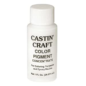 Castin craft casting epoxy resin opaque white for Castin craft resin dye