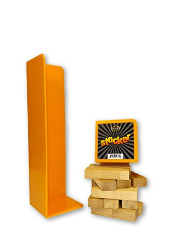 Wood Blocks Tower Stacker Game Accessory for ages 6 to adults - use with Jenga, Tipsy Tower, Lewo, WE Games and more by Hogar