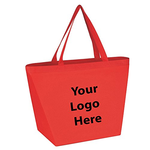 Budget Shopper Tote Bag - 100 Quantity - $1.35 Each - Promotional Product/Bulk with Your Logo/Customized.