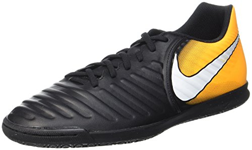 Nike TiempoX Rio IV IC Mens Indoor Competition Football Boots 897769 Soccer Cleats (UK 11 US 12 EU 46, Black White Laser Orange Volt 008)