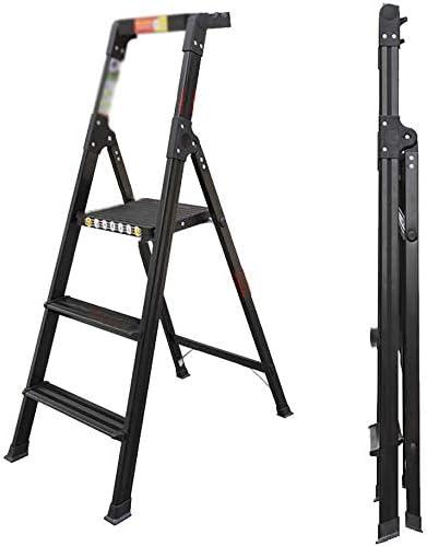 SED Escaleras de tijera multiusos Escalera plegable con bandeja de herramientas Escalera gruesa de aleación de aluminio Escalera ligera para pasamanos Escalera de 4 peldaños para decoración interior: Amazon.es: Bricolaje y herramientas