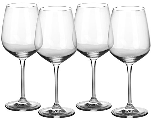 Wine Crystal Glass Lead (Amlong Crystal Lead Free Wine Glass, 17oz, 4 pack)