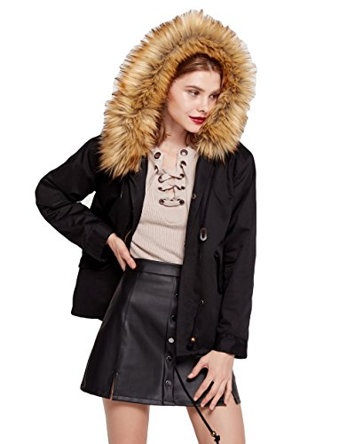 winter trench coat fur hoodie