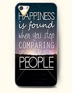 For Iphone 6 Plus Phone Case Cover Hard with Design Happiness Is Found When You Stop Comparing Yourself To Other People- Starry Sky And Road - For Iphone 6 Plus Phone Case Cover