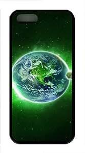 iPhone 5 5S Case Green Dream Space TPU Custom iPhone 5 5S Case Cover Black