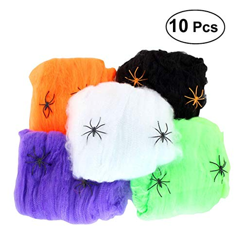 Sevenpring Peculiar Design Party Accessories Cotton Fake Spiders