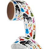 Bulk Roll Prismatic Stickers, Musical Instruments (50 Repeats)