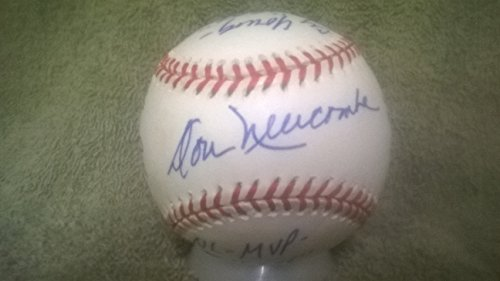 "Don Newcombe Signed Official National League ""Stat"" Baseball PSA Authenticated COA"