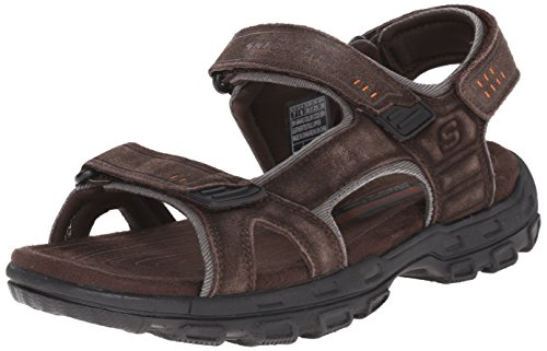 Skechers Men's Relaxed Fit 360 Gander - Alec Brown 11 D - Medium,Brown/Black,11 M US