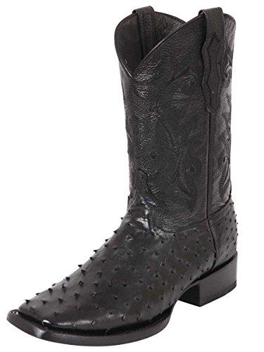 Bota Vaquera Exótico/a El General (BE) Piel Avestruz ID 40680 Negro (10) (Stingray Cowgirl Boots)