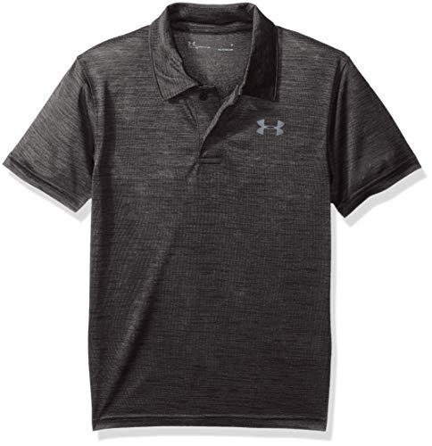 Under Armour Boys' Little Ua Match Play Polo, Black Twist, 6 (Under Armour Flash Shirt)