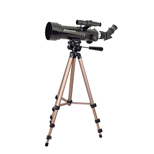 DURAGADGET Telescope Tripod with Extendable Legs and Ball-Tilt Head in Black & Gold Compatible With Celestron Travel Scope 70 Telescope by DURAGADGET