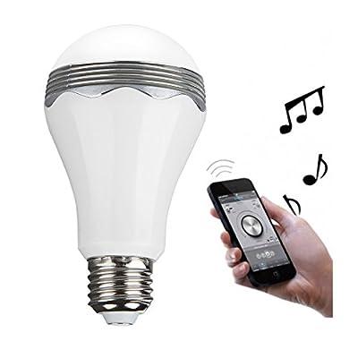 Tanbaby E27 LED Light Bulb with Bluetooth Music Speaker Player 5W White Lighting Lamp Indoor Led Lamp
