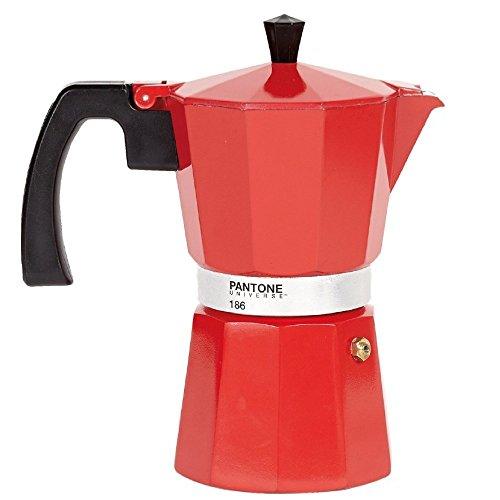 Pantone Coffee Percolator 6 Espresso Cup Strong Red