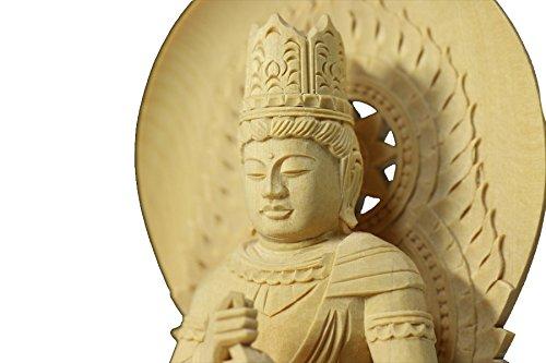 Buddha-Dainichi Statue Plain Wood Round Pedestal (7.8 H x 4.6 W x 4.2 D (Plain Round Pedestal)