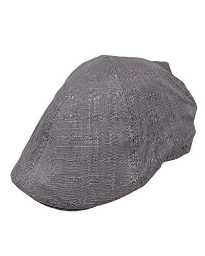 Duckbill Cap - The Hatter Cool Men's Summer Cotton/Linen Duckbill Ivy Cap Hat (Gray)