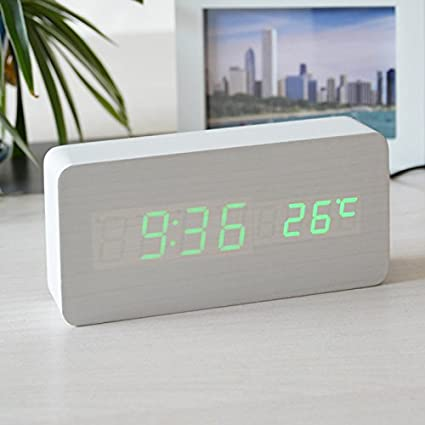 Amazon Com Damjic The Alarm Clock Sound Simple Wood Clock 1504570mm