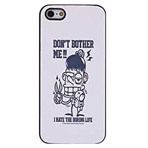 Piaopiao Annoyed Man Pattern PC Hard Case with Interior Matte for iPhone 5/5S