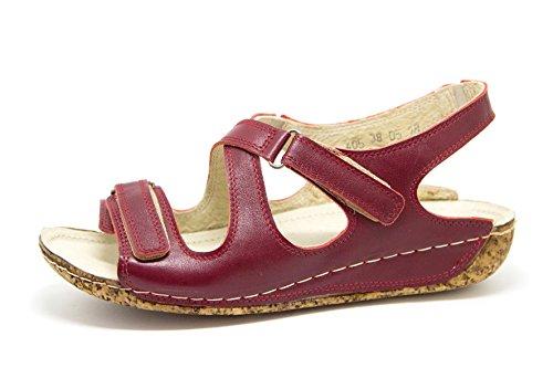 Pelle 405 Sandali Donna Scarpe In Rosso Ks Estive Da vR0Uxa