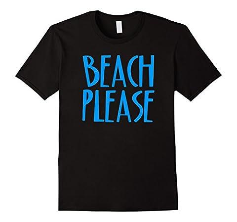 Mens BEACH PLEASE T-Shirt Large Black - South Beach Wine